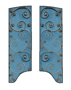 Door Grill, Handforged, Wrought Iron - GR7611