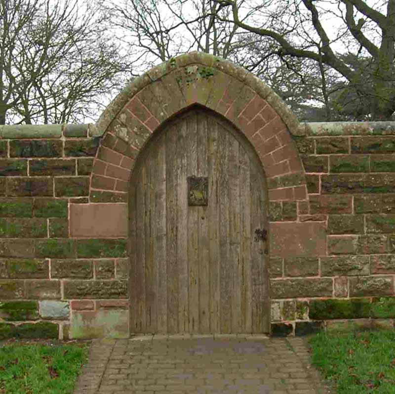 Wooden Tree Gate Design: Speakeasy Gates