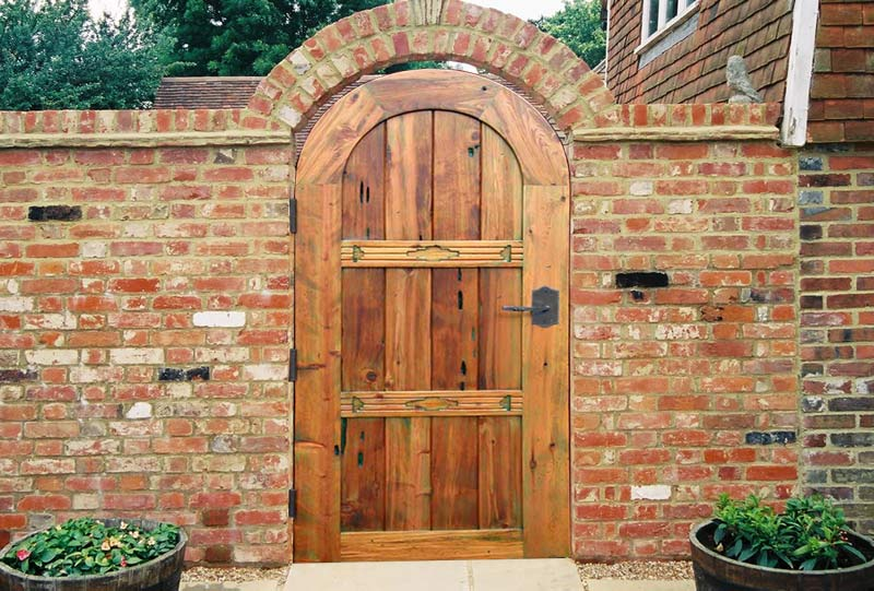 Garden Gate Arched Top Gate Plank Gate Hand Carved Gate