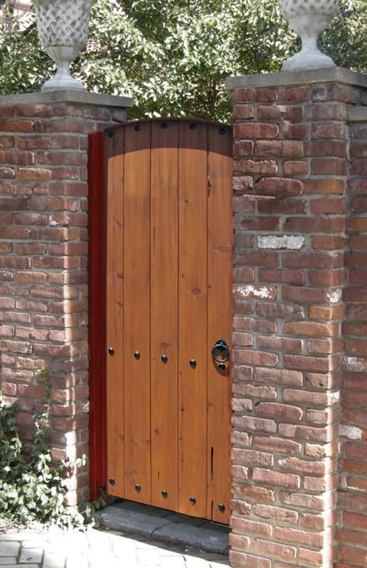 Garden Gate Arched Top Gate Fine Art Plank Gate