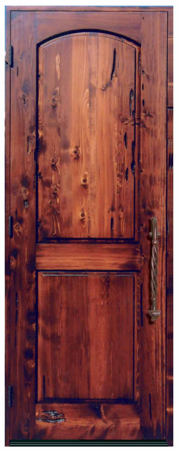 Custom Wood Double Doors 13th Century Italy