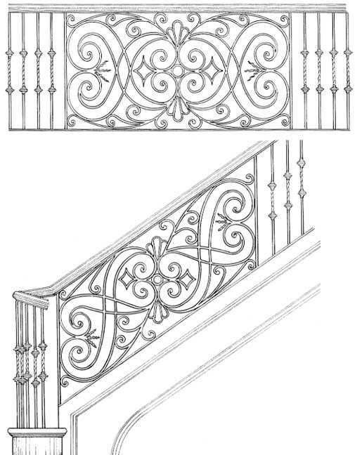 Railing Designs Scroll Designs Stair Railings
