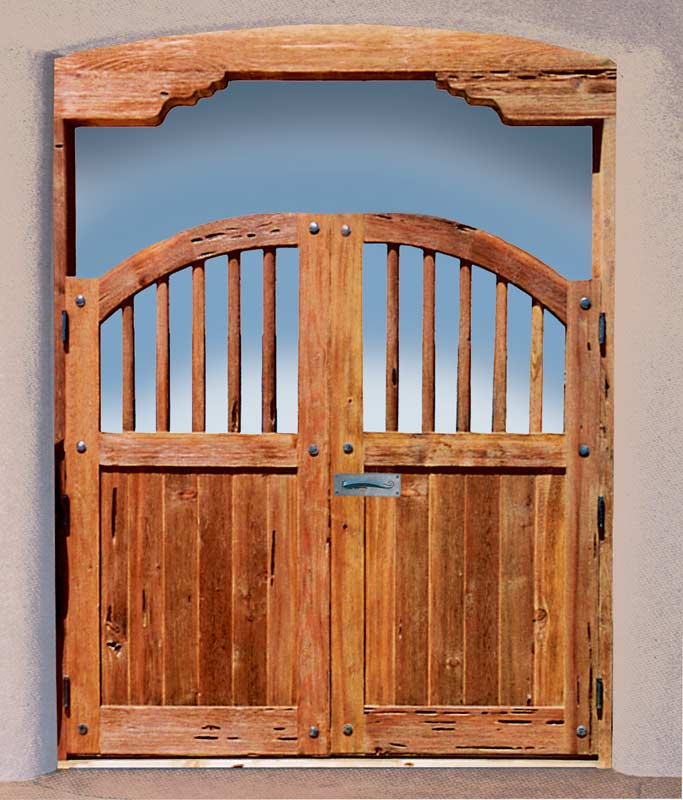 Wood Gates - Butron Castle 13th Century Spain  - 3344GG