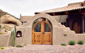 Entrance Gates -  Loarre Castle 12th Cen Spain - 3454WI