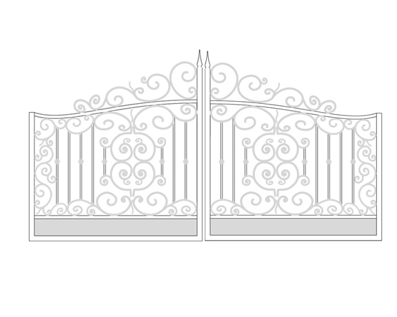 Wrought Iron Gate Custom Italian Renaissance Ornamental