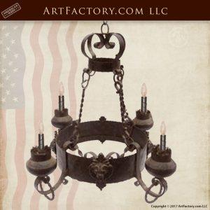 custom lion head chandelier