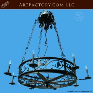 Medieval Custom Wrought Iron Chandelier 14th Century- LC783A