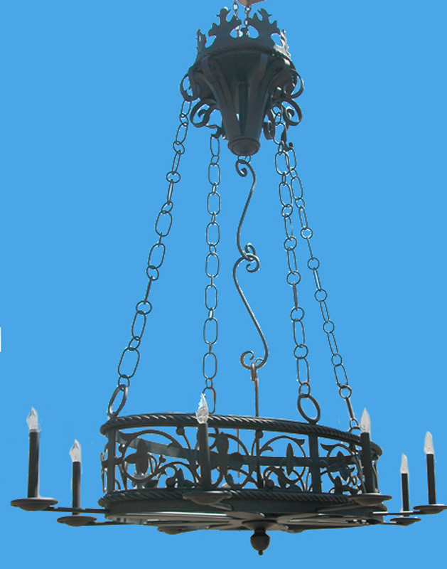 Wrought Iron Chandelier - 10th Cen France - LC783B