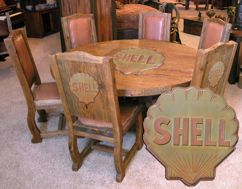Shell Oil Table - Designed From Petroleum Antiquity - MCT8900