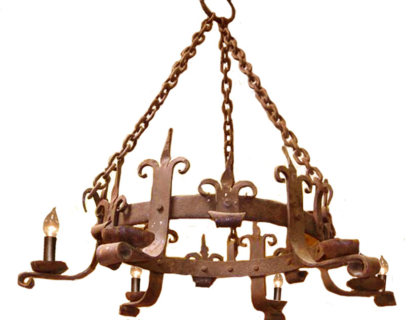 Castle Style Chandelier - Designed From Antiquity - 399LC