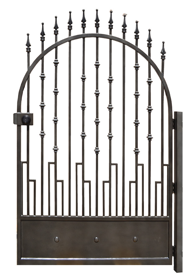 Custom Wrought Iron Gates Arched Entrance Gates Historical Garden Gate Estate Gates