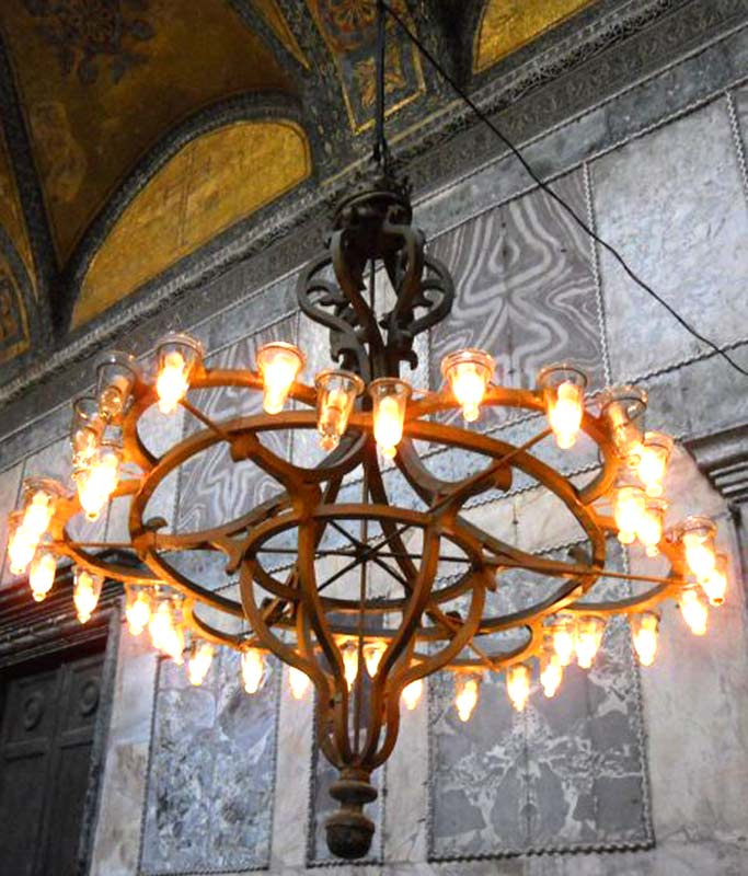 Greek Flower of Life Chandelier  Hand Forged - GCH900