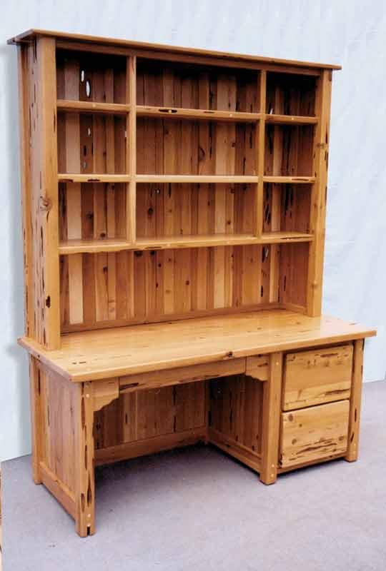 Wood Desk With Hutch Bookcase U2013 Custom Built U2013 CTWS295