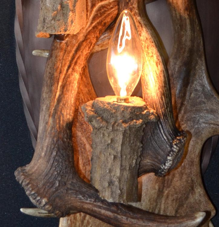 Fallow Deer Lighting Deer Antler Wall Sconces Custom
