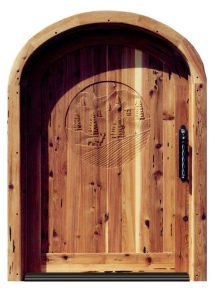Arched Door - Mule Deer - Hatley Castle  17th Cen - 2304AT