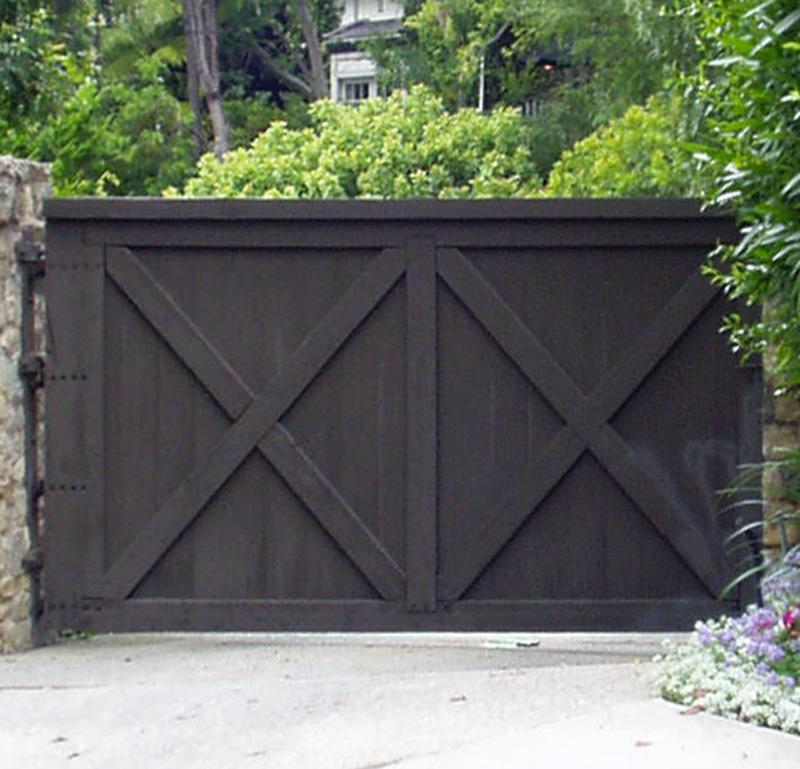 Driveway gates entrance gates wood gates high end for Driveway gate designs wood