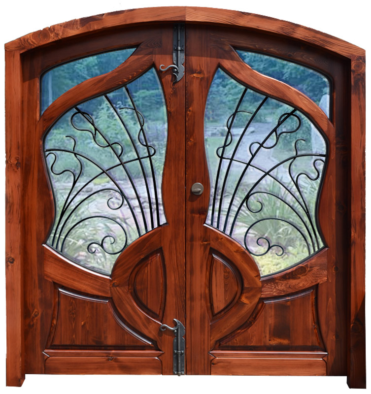 Art Nouveau Entrance Door Iron And Glass French Door