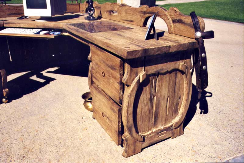 Western Style Desk | Ranch Rustic Style Office | CowBoy Furniture | Lodge  Desk