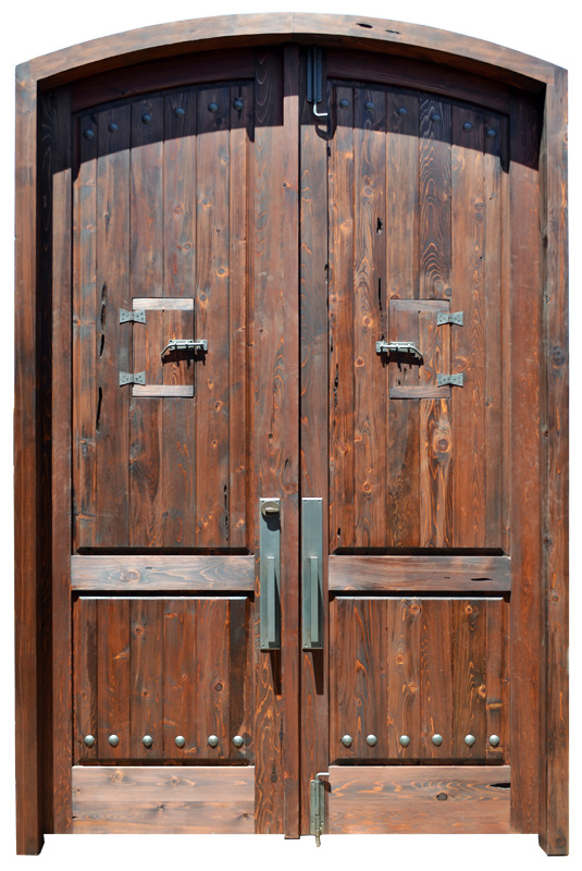 Double Doors With Wrought Iron Working Speakeasy -  6414AT