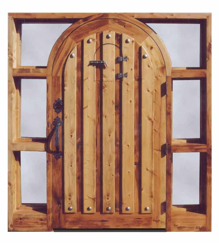 Grand entry door front door entrance door arched doors for Solid wood door construction