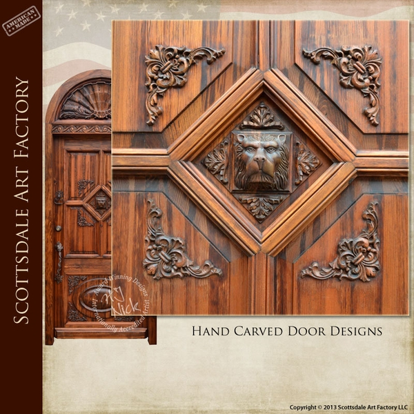 Arched Door - Hand Carved Entrance Door -  251HCA