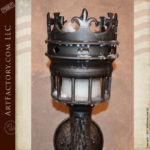custom crown torch sconce