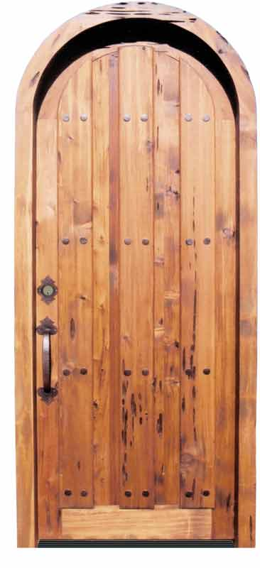 Full Arch Entry Door Handcrafted Solid Hard Wood Doors