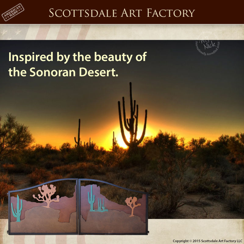Custom Sonoran Desert Theme Gates Custom Wrought Iron