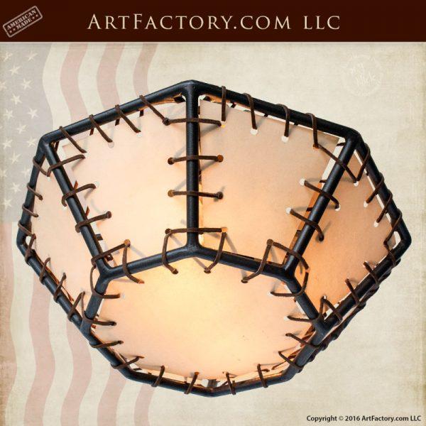 Octagon Rawhide Lighting Custom Made - Craftsman - CCRH879
