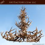 Triple Tier Antler Chandelier, Custom Ceiling Lighting - LAC9000