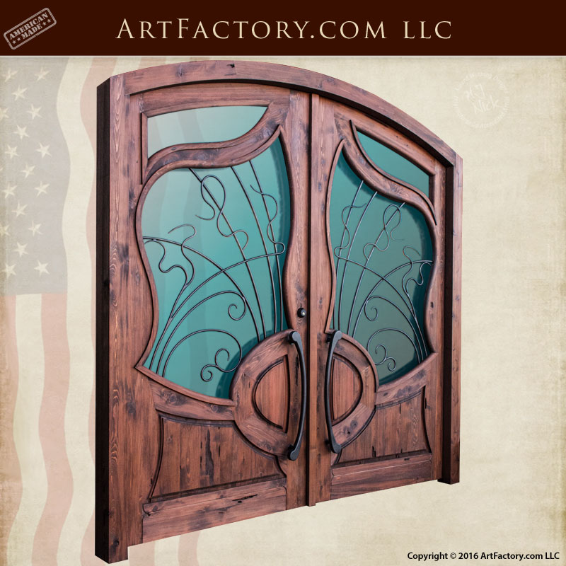 Art Nouveau Lavirotte Entrance - Custom Wooden Doors - HRD9989