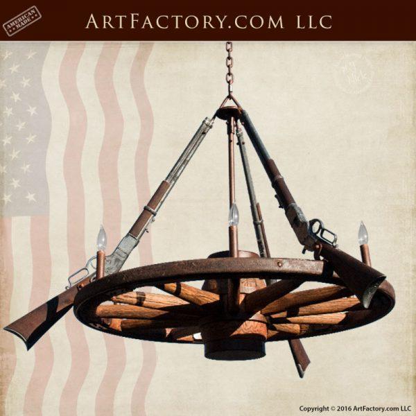 antique wagon wheel chandelier