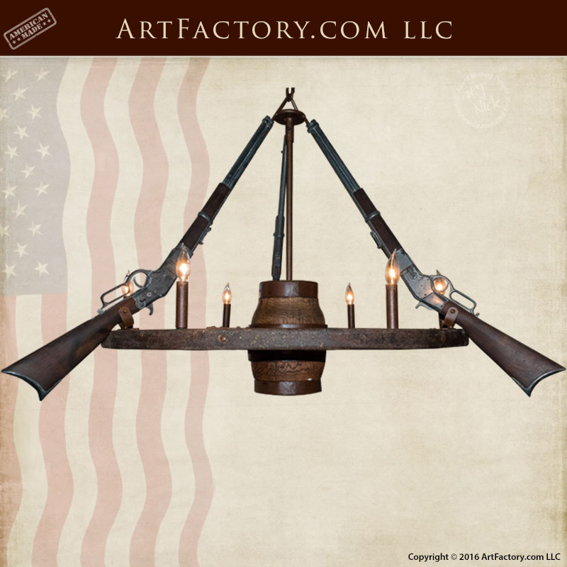 Antique Wagon Wheel Wrought Iron Chandeliers - WWC555