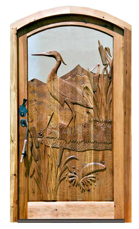 Heron Carved Designs Custom Doors Hand Crafted Nature ...