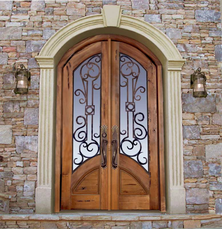 Custom Castle Doors u2013 Castello di Lombardia Sicily u2013 8020WI & Custom Castle Doors | Solid Wood Glass Wrought Iron Entry Door