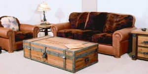 Leather Sofa - Cow Hide Hair On Hide - 9090048