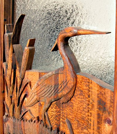 Custom Cabin Doors Hand Carved Nature Themed Doors