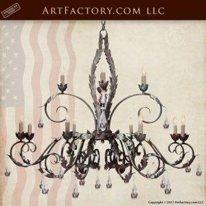 Saint Paul Crystal Chandelier, Custom Iron Lighting - LC904