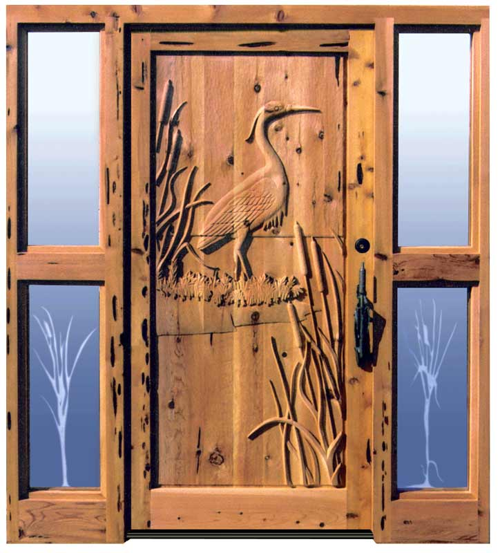 Custom doors with sidelights solid wood hand
