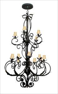 Chandelier - Baroque Colonnades 16th Cen - LC940