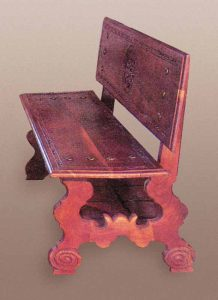 Bench - Hand Carved Entryway Bench - SPB441