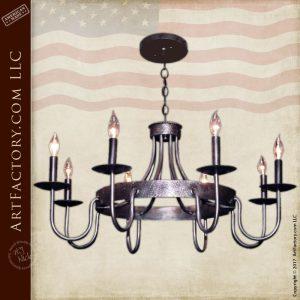 Rustic Iron Chandelier - Eight Light Candelabra - LC509