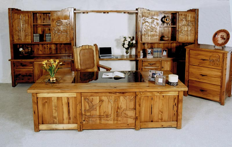 marvelous cubicles office furniture | Executive Office Furniture - Custom Built - Hand Carved Wood