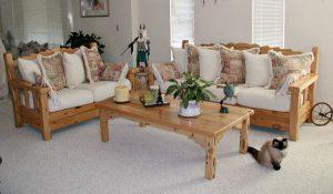 Sofa Wood Frame Craftsman Style Handmade In America  -  SFC726