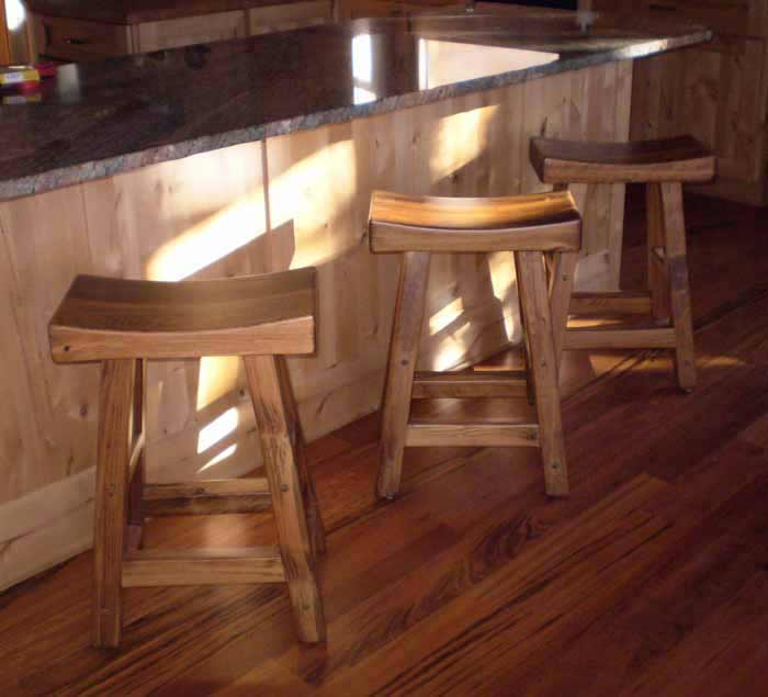 Solid Wood Saddle Stool Saddle Bar Stools Tall Bar