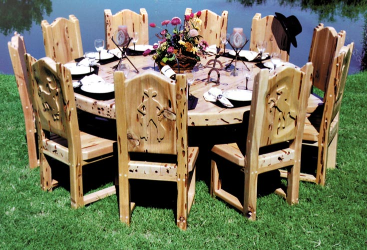 Western Dining Tables | Custom Dining Table | Cabin Dining Table | Lodge Dining Room Sets