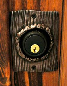 Lock Cover - Pine Bark Solid Steel Hand Forged HH059A