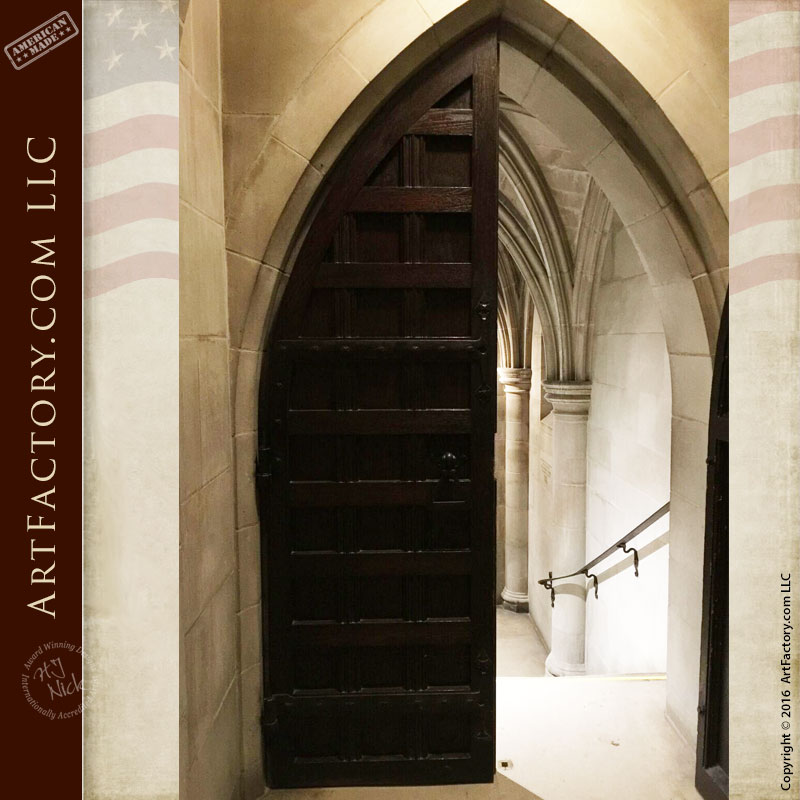 Cathedral Catacombs Entrance, Custom Wood Door Designs - NCD876