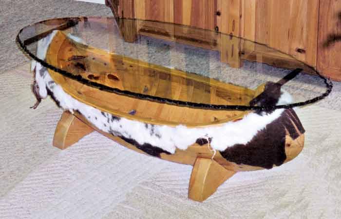Superbe Canoe Coffee Table | Native American Indian Tables | Canoe Tables | Custom  Indian Tables