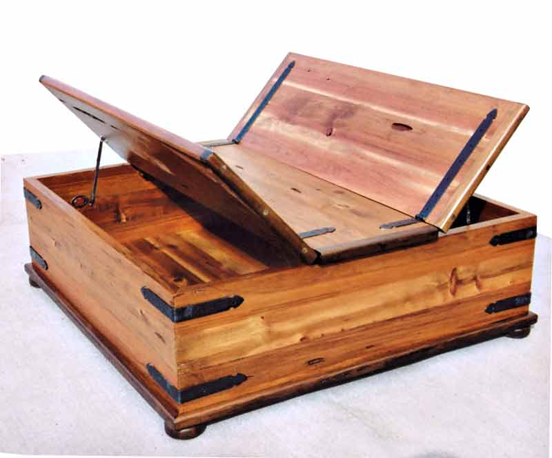 Cedar Ottoman Plans ~ Coffee table th cen castle hand crafted storage trunk